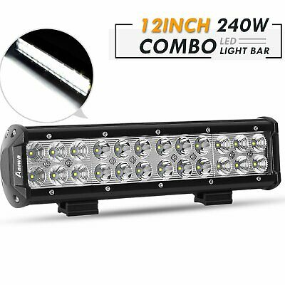 12inch LED Light Bar Work Spot Flood Combo Fog Off Road ATV UTV TRUCK Lighting