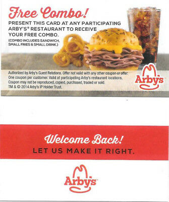 100 Arby's Free Combo Meal Passes