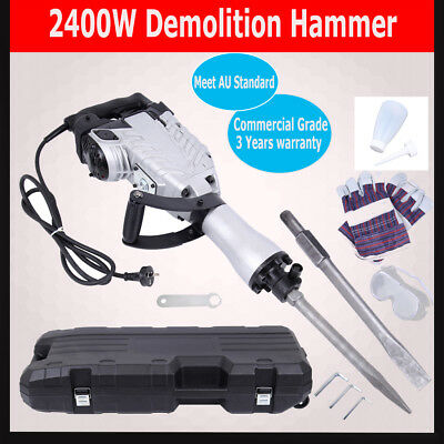 2400W Demolition Jack Hammer Commercial Grade Jackhammer Electric Tool