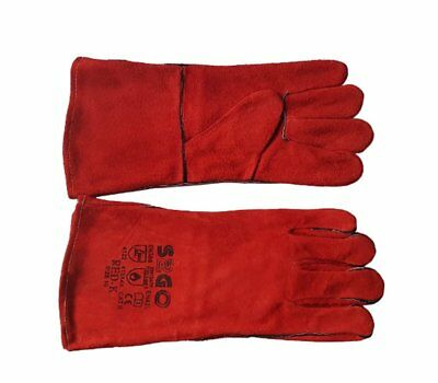 Welding Gloves RED-K TIG MIG MAG MMA Size 10 Cattle Leather