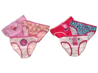 Kids Girls Toddlers 3 Pack Peppa Pig Briefs Underwear Knickers Size 2-8 Years