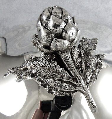 RARE TUREEN with lid in shape of artichoke (for vegetable) in STERLING SILVER