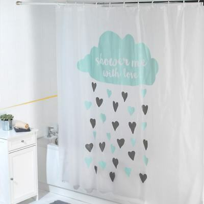 New Luxury Shower Curtain Waterproof Quote Funny Bathroom Decoration