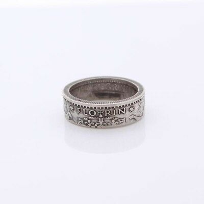 Australian Florin Silver Handcrafted Coin Ring - dates from 1946 to 1963