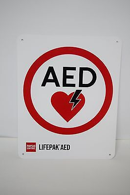 Physio Control Lifepak*AED AED Flat OSHA Safety Sign 10 x 8 Inches  #M11