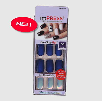 imPRESS Nails CALL IT OFF Medium blau matt Künstliche Fingernägel Press-On Kiss
