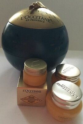 L'Occitane Teal & Gold Large Bauble With Divine Cream Divine Eyes + Tealight