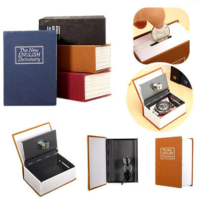 Mini Dictionary Stash Book Safe Box Secret Security Hide Lock Cash Money Coin UK