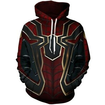Iron Spider-Man Hoodie Avengers Infinity War Spiderman Sweater Cosplay Costume