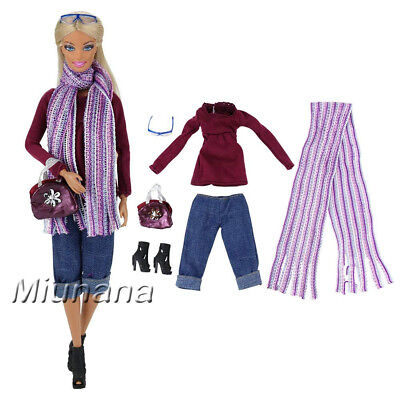 Evening Wedding Party Clothes Casual Dress Outfit Set For Barbie Doll. Barwa
