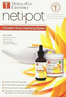 Neti Pot Ceramic Starter Kit, Himalayan Institute, 3 kits