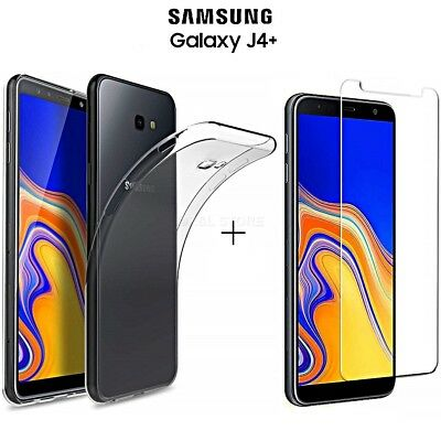 COVER per Samsung Galaxy J4+ PLUS CUSTODIA + PELLICOLA VETRO TEMPERATO 9H HD