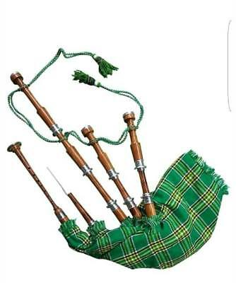 HIGHLAND DUDELSACK Silber Mengen / Scottish mit Gitarrenkoffer/Chanter