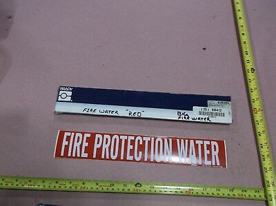"""Fire Protection Water"", Pipe Marker, 2-1/4""H, 14""W (25 stickers)"