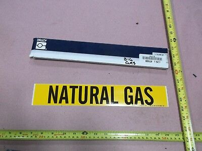 """Natural Gas"", Pipe Marker, 2-1/4""H, 14""W (25 stickers)"