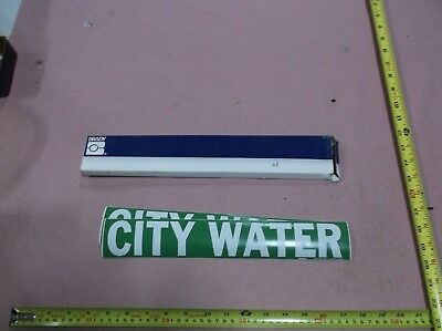 """""""City Water"""", Pipe Marker, 2-1/4""""H, 14""""W (4 stickers)"""