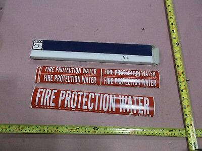 """Fire Protection Water"" 2-1/4""H x 14""W (2 stickers), 1-1/8""H x 7""W (24 Stickers)"