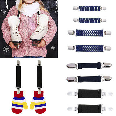 Stainless Steel Mitten Clips Elastic Glove And Mitten Clips For Kids 1 Pair hy