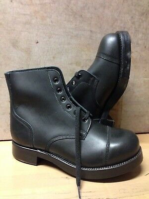 Size 7 L Black Ammo/parade Boots!genuine British Issue!new In Box!