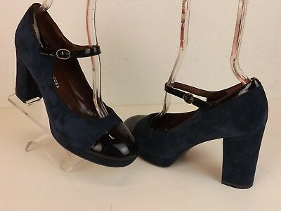 NEW MARC JACOBS COLOR BLOCK CANVAS HIGH HEEL MARY JANE PUMPS 8 12