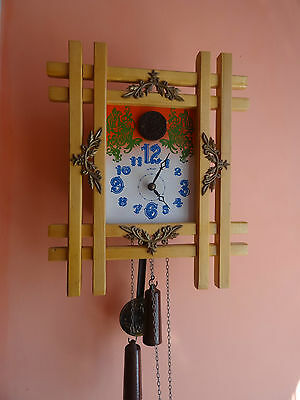 OLD Russian Soviet cuckoo wall clock   MAJAK  -МАЯК . .rare model-17
