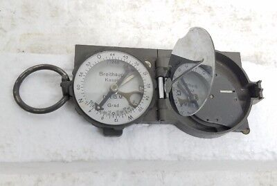 VTG World War II Breithaupt Kassel Drgm map scale German military compass w/case
