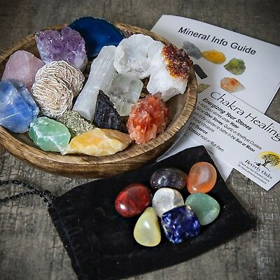 Ultimate Healing Crystals & Chakra Stones Discovery Set - 21 Healing Stones