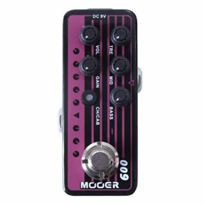 Mooer Micro Preamp Pedal - 009 Blacknight New