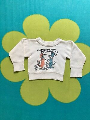 Vintage 1950s Huckleberry Hound Kids Sweatshirt 1959 Retro 50s 60s Toddler Baby