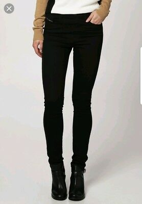 fe7bcbd7 New Diesel Ladies Black 0813E Skinzee High Waist Super Slim Skinny Jeans  24W 30L