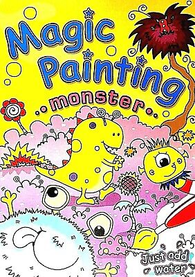 Magic Painting, Monster, Just Add Water, Children's Activity Book, New