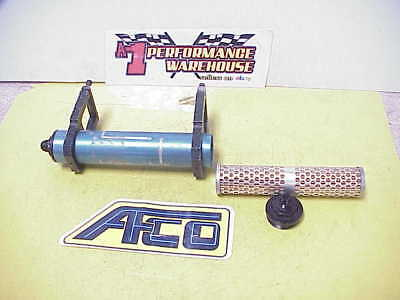 """Afco Aluminum 12"""" Fuel Filter With -08 AN Fittings with New Element IMCA UMP J4"""