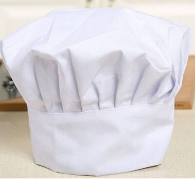 Kid White Chef Hat Elastic For Party Kitchen Baking Cooking Costume Party Cap