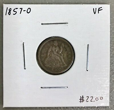 1857-O U.s. Liberty Seated Dime ~ Very Fine Condition! $2.95 Max Shipping! C532