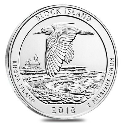 2018 5 oz Silver America the Beautiful ATB Rhode Island Block Island National