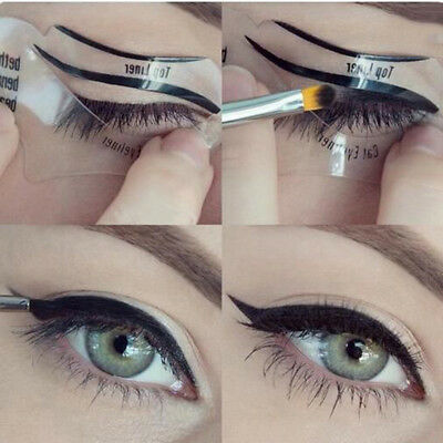 Eyeliner Stencil Eyes Template Shaper Eye Makeup Kit Stencils Card Model Guide