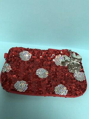 Disney MINNIE MOUSE Red Sequin Coin Purse POLKA DOT New