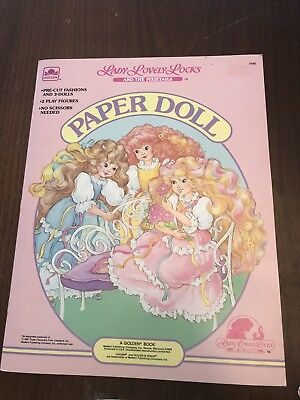 VTG Lady Lovely Locks And The PixietIls Paper Doll Book Golden 1987 Used/cut