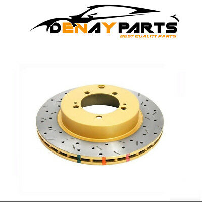 05-09 LGT 4653XS DBA 4000 Series Drilled /& Slotted Rear Rotors for 06-07 WRX