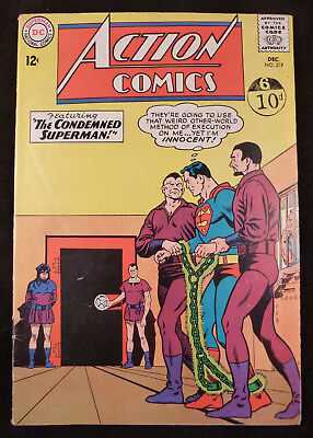 ACTION COMICS #319 featuring 'The Condemned Superman' DC Comics December 1964