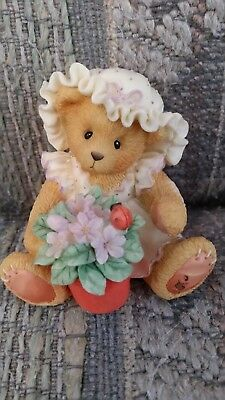 Cherished Teddies: Violet, Blessings Bloom When You Are Near, #156280, 1995 EUC