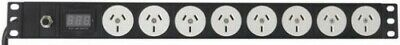 8x Outlets Horizontal Power Rail Port 2M With Digital Display Current Meter