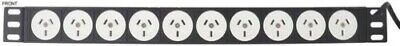 16 Way Rack Mount Horizontal Power Strip Outlets With 10A Thermal Type Breaker
