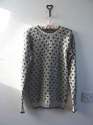 VINTAGE unbranded nordic style acrylic/wool? ladies/childs jumper size S/XS