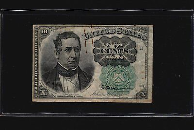 1874 Series 10c Fractional Currency 5th Issue Banknote Ten Cents FR-1264