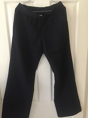 Womens Soon Maternity Navy Business Pants, Size 10