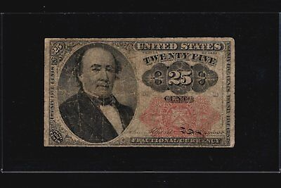 1874 Series 25c Fractional Currency 5th Issue Banknote Twenty-Five Cents FR-1308