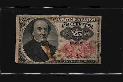 1874 Series 25c Fractional Currency 5th Issue Banknote Twenty-Five Cents FR-1309