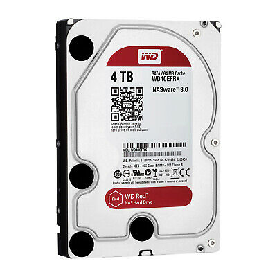 """WD 4TB Red 5400 rpm SATA III 3.5"""" Internal NAS HDD WD40EFRX"""