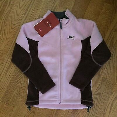 HELLY HANSEN girls 12 152cm PRO FLEECE Full-Zip Mock-Neck JACKET pink/raisin NWT